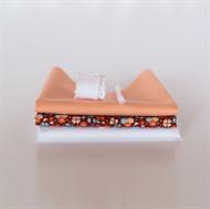 Bild von Set für extra Puppenkleid - Marsala - Pastellrosa