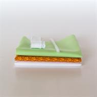 Bild von Set für extra Puppenkleid - Orange - Frisch Pastellgrün
