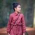 Picture of Seeds - M - Cotton Gabardine Twill - Marsala Red