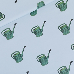 Picture of Watering Cans - M - Katoen Gabardine Twill - Mistblauw