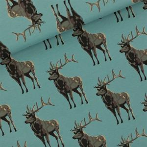Bild von Deer - M - French Terry - Trellis Blau